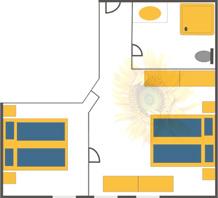 Doppelzimmer mit 2. Schlafraumim im Obergeschoß