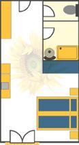 Doppelzimmer Sonne im Obergeschoß